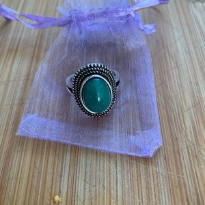 Jewelry - Fashion Silver Malachite Gemstone